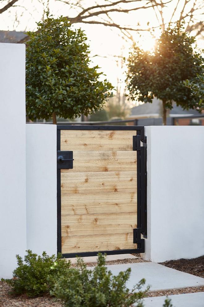 Beautiful Landscape With Sheer Wooden Door