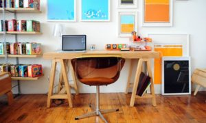 Beautiful Wooden Home Office featured