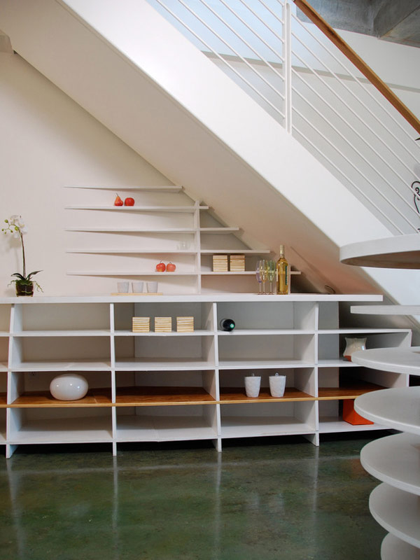 Chic under the stairs space