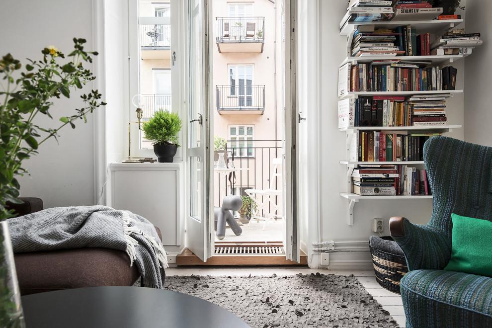 Contemporary Living Room Balcony