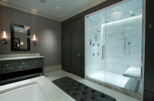 Master Bathroom With Glass Doors