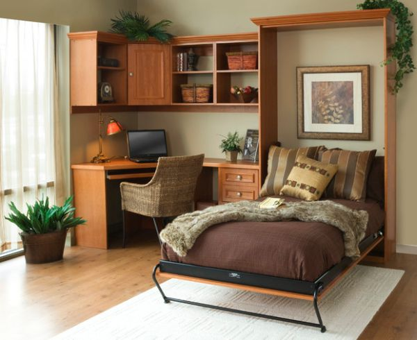 Murphy bed idea for the smart home office