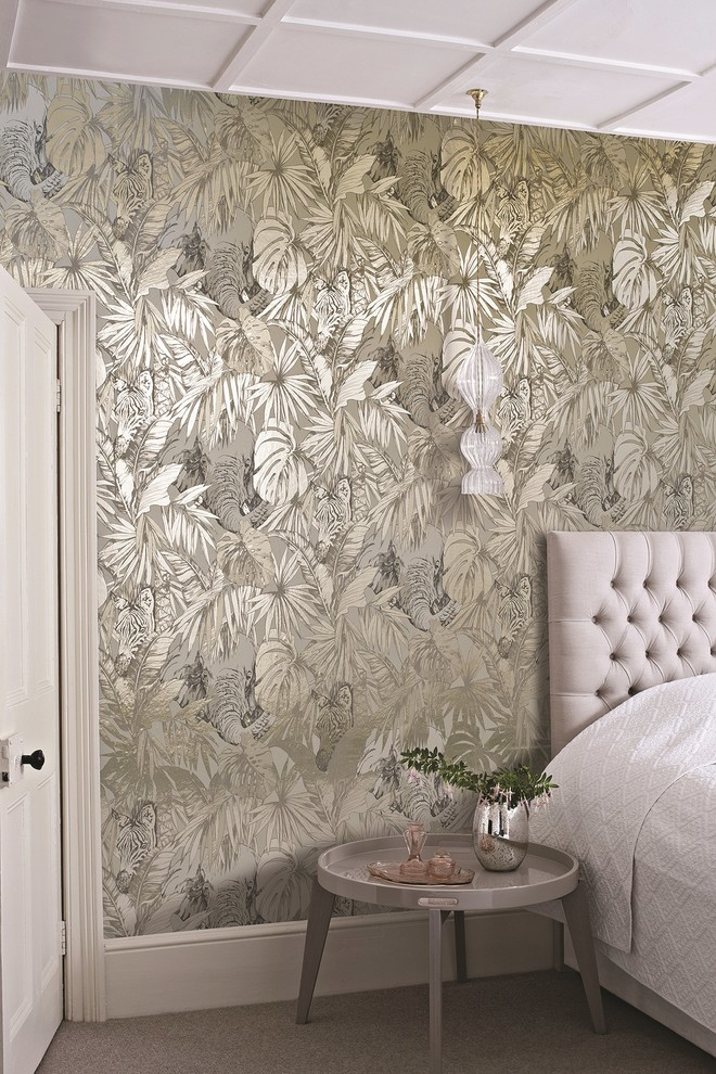 11 awesome bedroom wallpaper ideas Metallic home decor pinterest