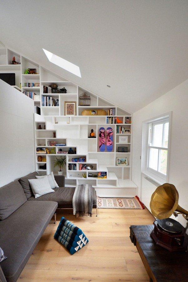 Space saving under stairs storage