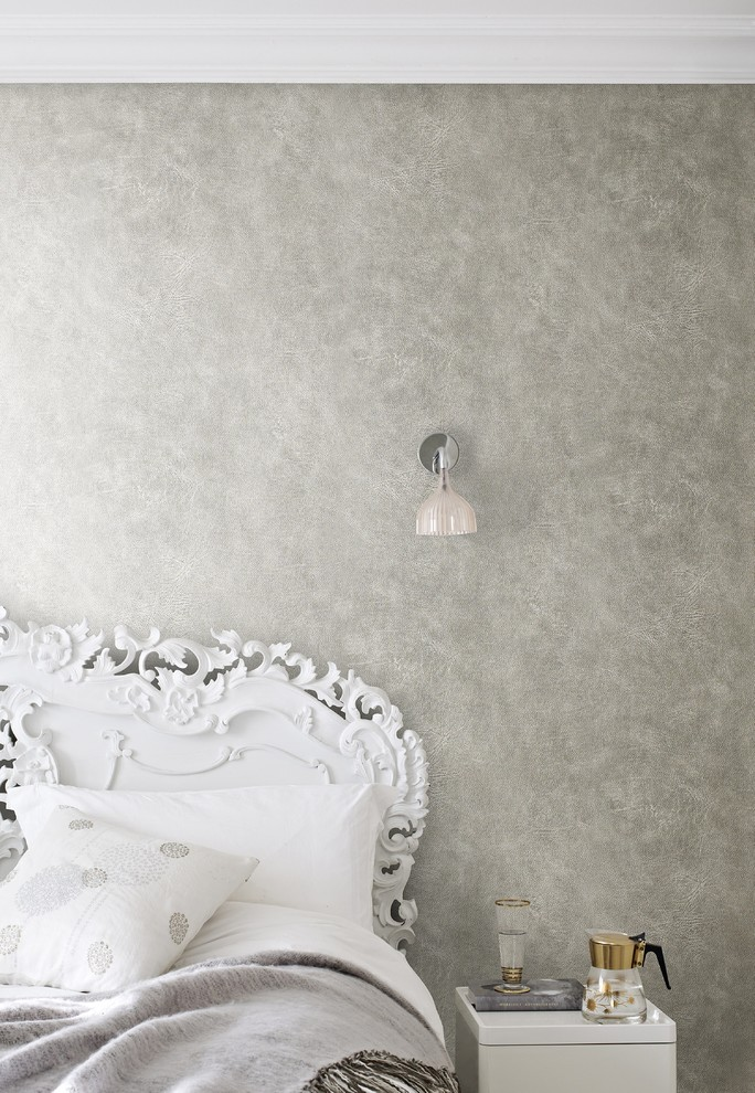 Textured Contemporary Bedroom Wallpaper