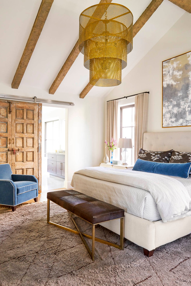 traditional and contemporary styles featuring master bedroom in dallas
