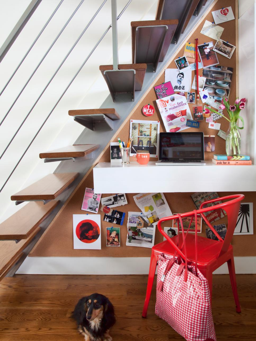 Under the stairs workspace