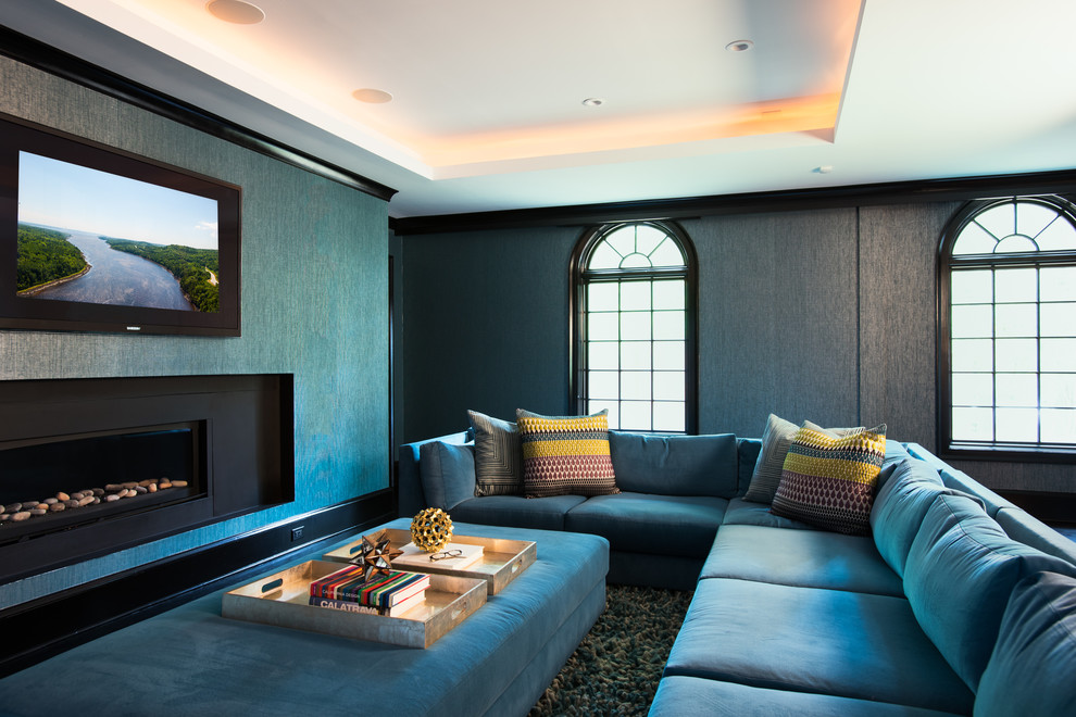 Contemporary Home Theater Design