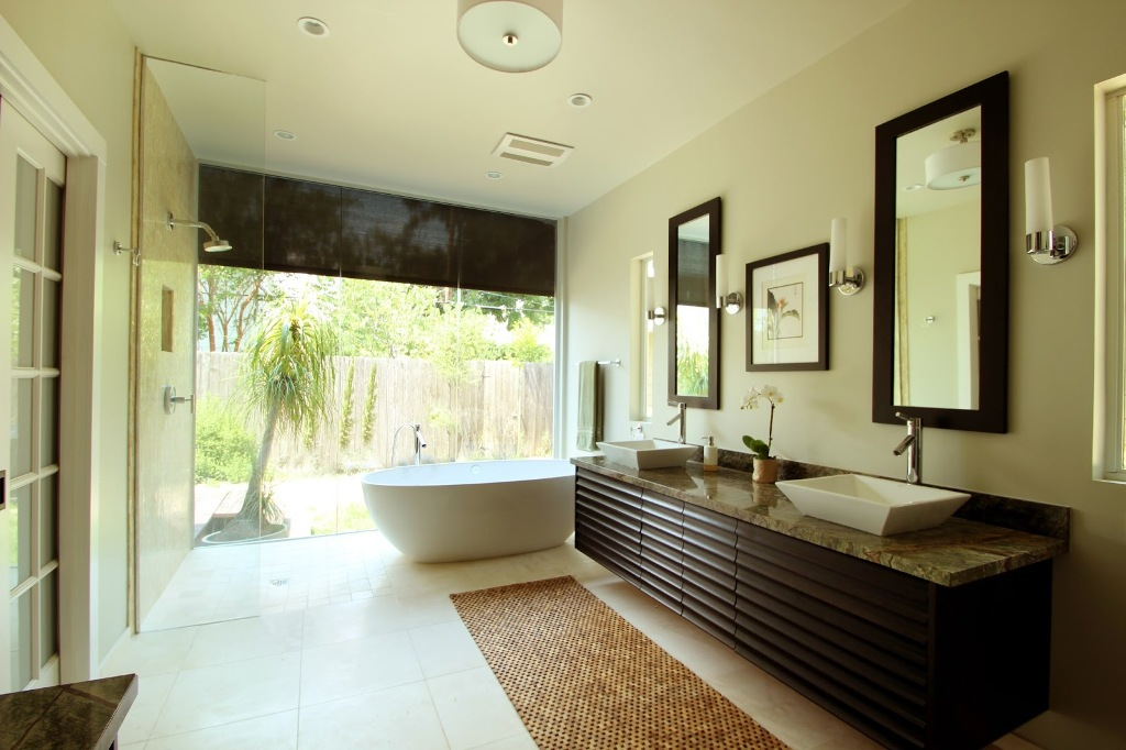 25 modern luxury master bathroom design ideas for Contemporary luxury bathroom ideas