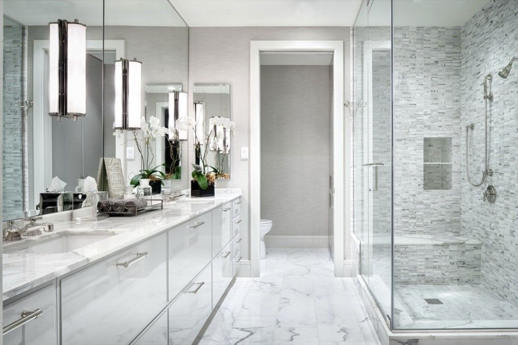 25 modern luxury master bathroom design ideas for Bathroom design pictures gallery