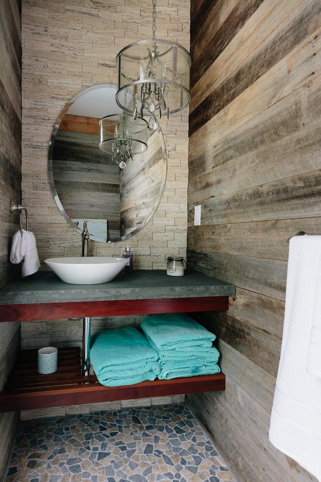 Rustic Powder Room Design
