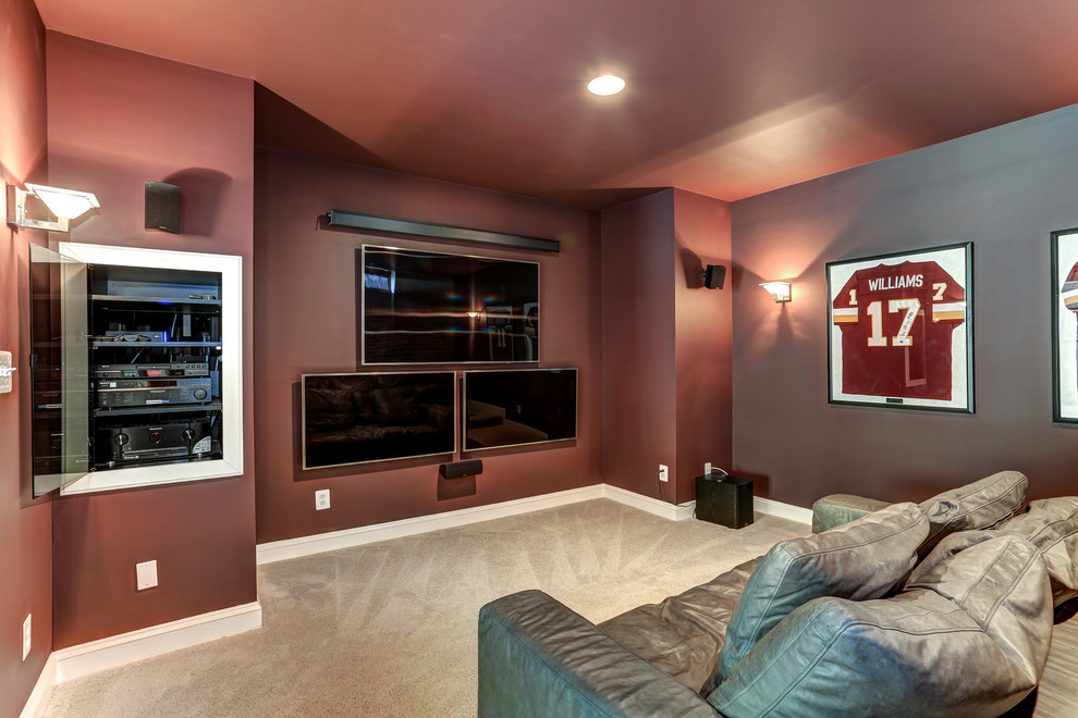 Shabby-Chic Style Home Theater Design