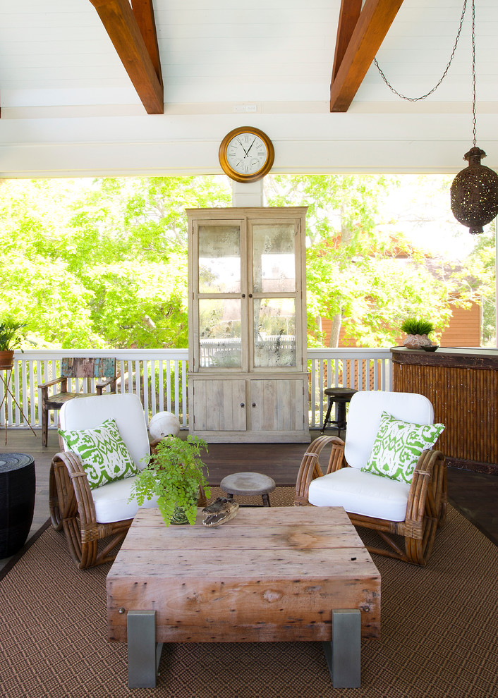 Shabby-Chic Style Porch Design