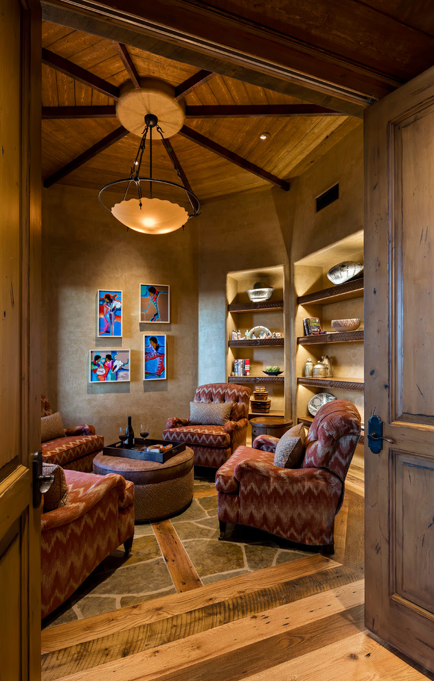 Southwestern Family Room Design