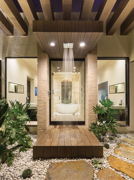 25 amazing walk in shower design ideas for Bathroom designs outside