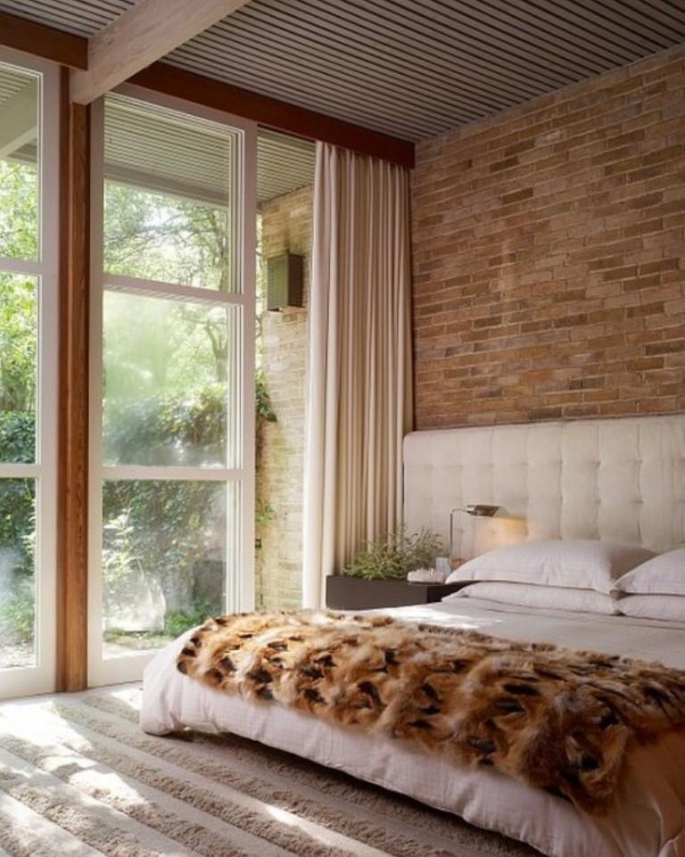 airy-bedroom-with-brick-walls