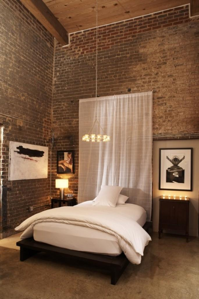 amazing-loft-bedroom-with-exposed-brick-walls