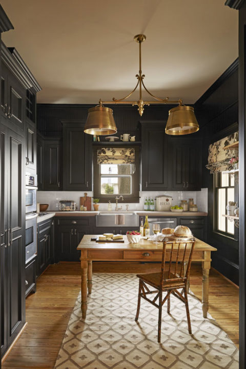 beautiful-black-kitchen-cabinets