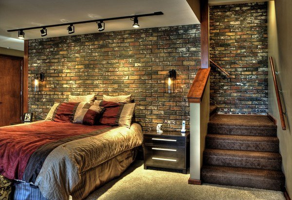 astounding bedroom brick wall | 25 Amazing Bedrooms With Brick Walls