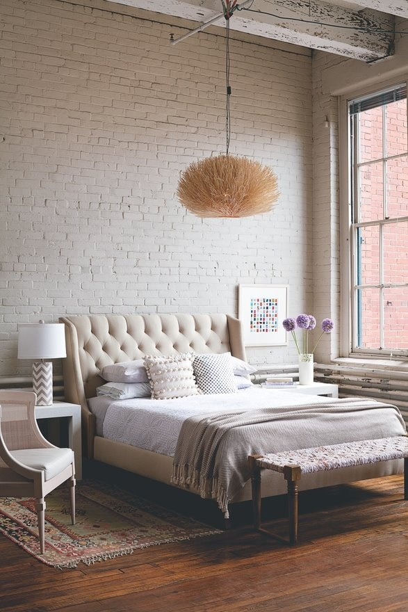 bedroom-ideas-with-contemporary-bed-and-brick-wall