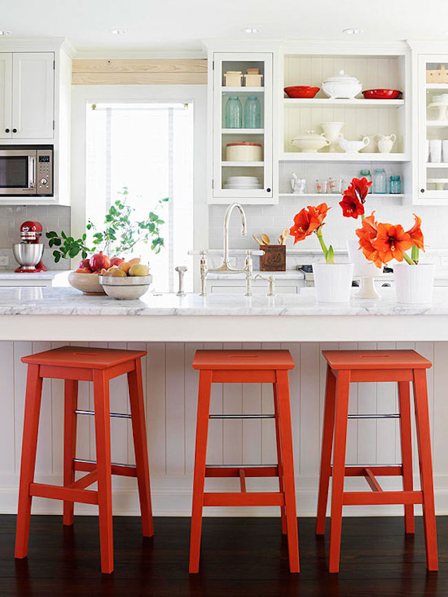 bright-orange-kitchen-bar-stools