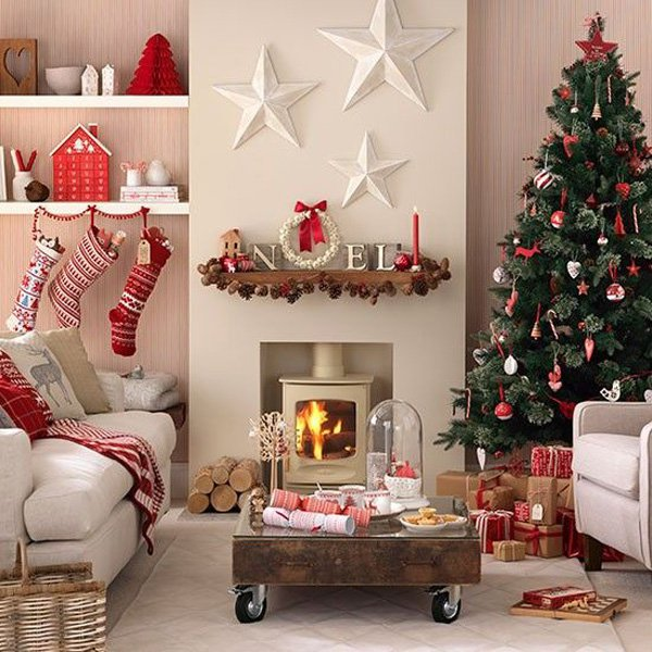 Christmas decoration ideas for 2016 for Christmas ideas for living room