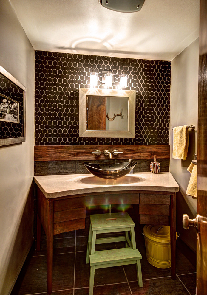Concrete Midcentury Bathroom