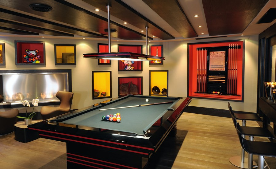 Contemporary Basement Design Part 81