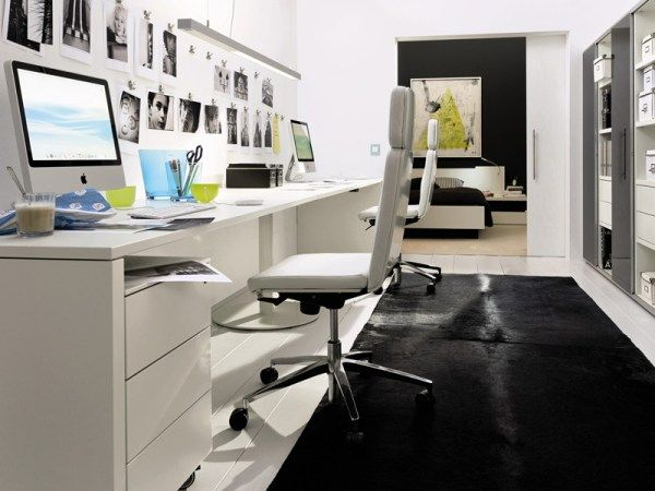 contemporary-home-office-inside-bedroom