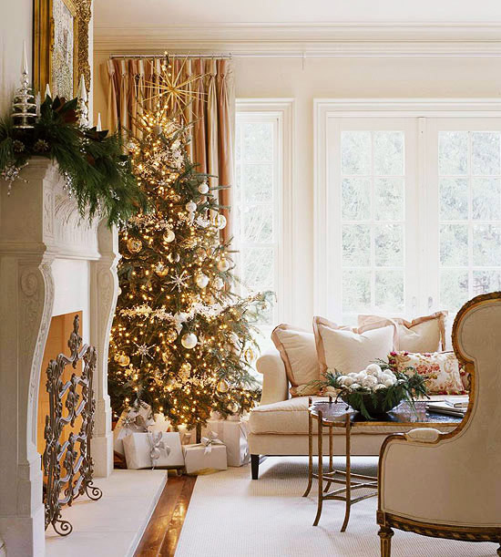 contemporary-living-room-christmas-living-room-design-ideas