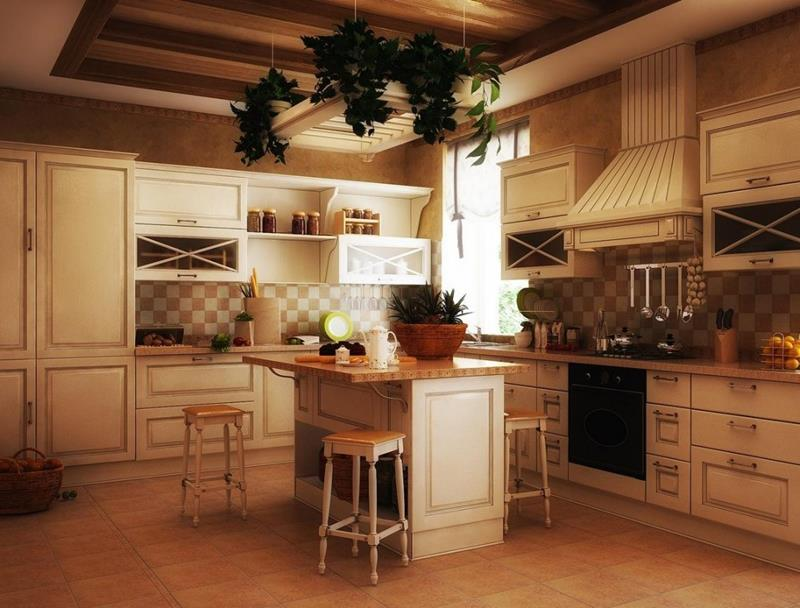 country-kitchen-with-rustic-barstools