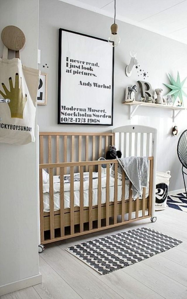31 stunning modern nursery design ideas for Modern nursery decor