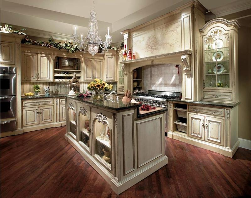 dark-wood-flooring-country-kitchen