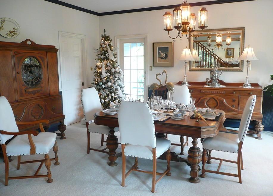 15 best christmas tree decoration ideas for Dining room xmas decor
