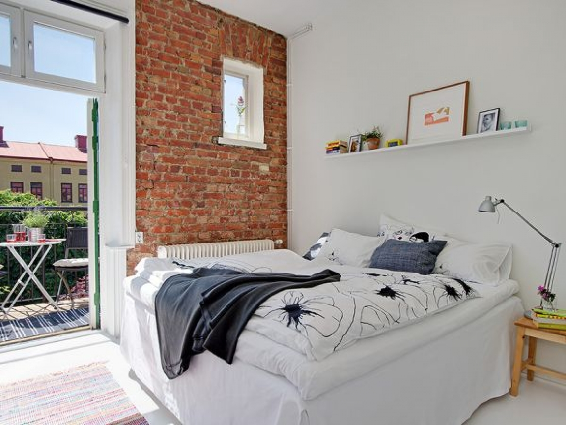 exposed-brick-bedroom
