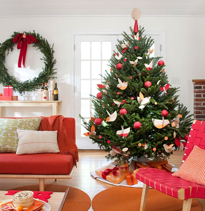 Christmas Tree Designs Ideas Part - 46: Green-christmas-tree-decorating-ideas