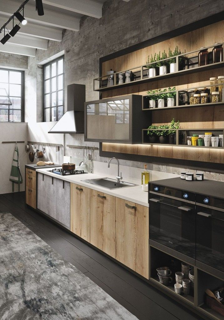 20 best industrial kitchen design ideas for Open concept galley kitchen designs
