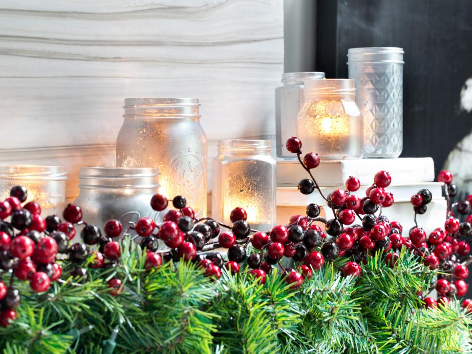 Mason Jar Christmas Decoration