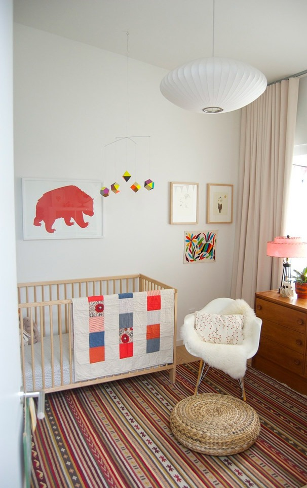modern-nursery-room-with-red-and-turquoise