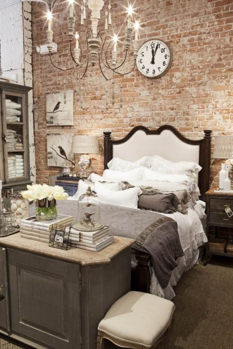 25 amazing bedrooms with brick walls for Bedroom w brick wall