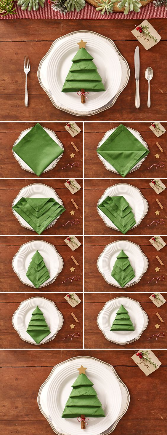 simple-christmas-tree-napkin-decoration-ideas
