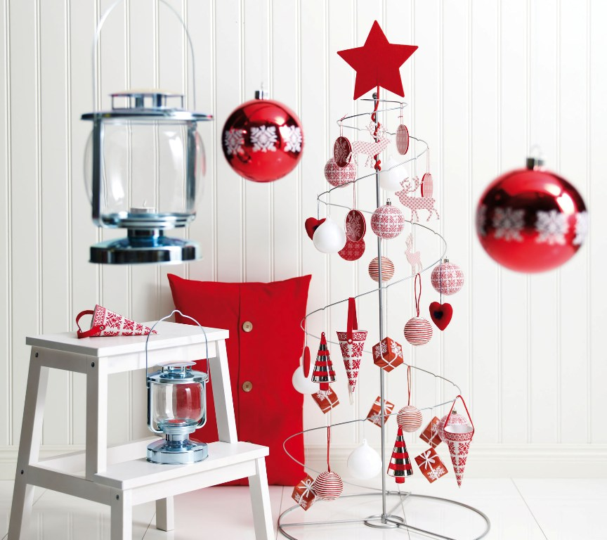 25 simple christmas decorating ideas for Modern christmas decor