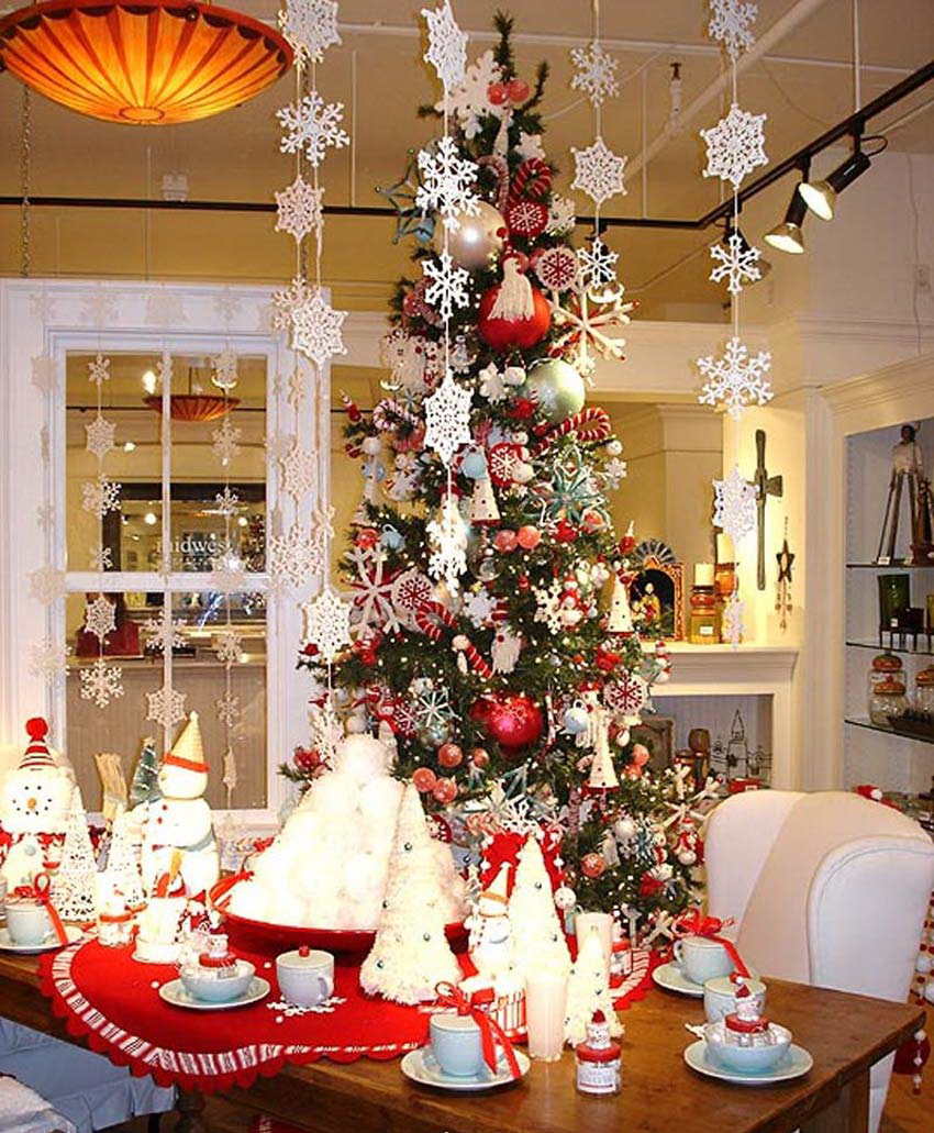 25 simple christmas decorating ideas - Christmas tree decoration ...