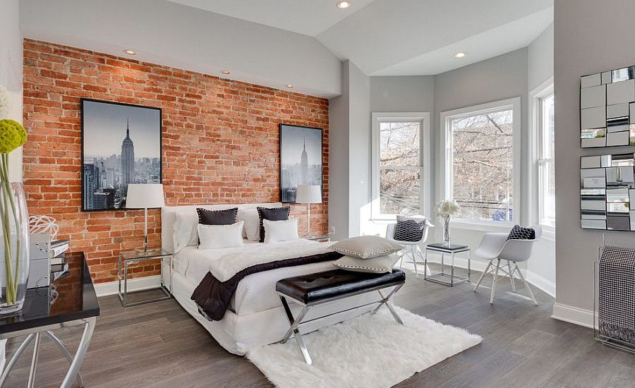 25 amazing bedrooms with brick walls Brick wall bedroom design