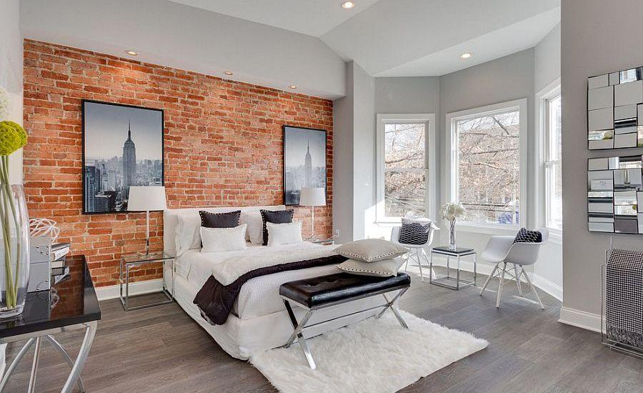 sophisticated-brick-wall-bedroom-design
