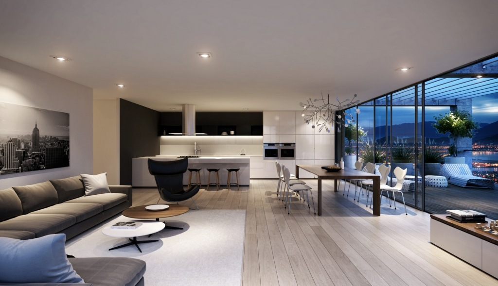 spacious-glass-wall-living-room