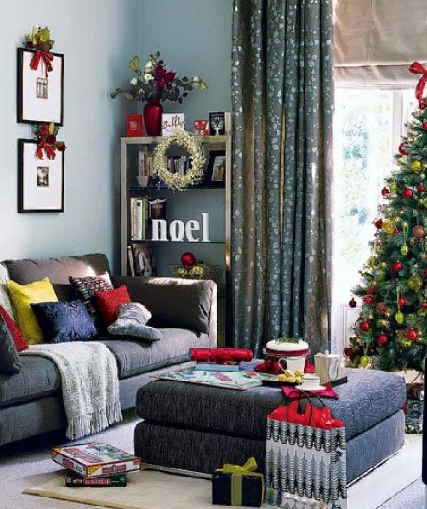 sparkling-christmas-and-fabric-grey-sofa-furniture