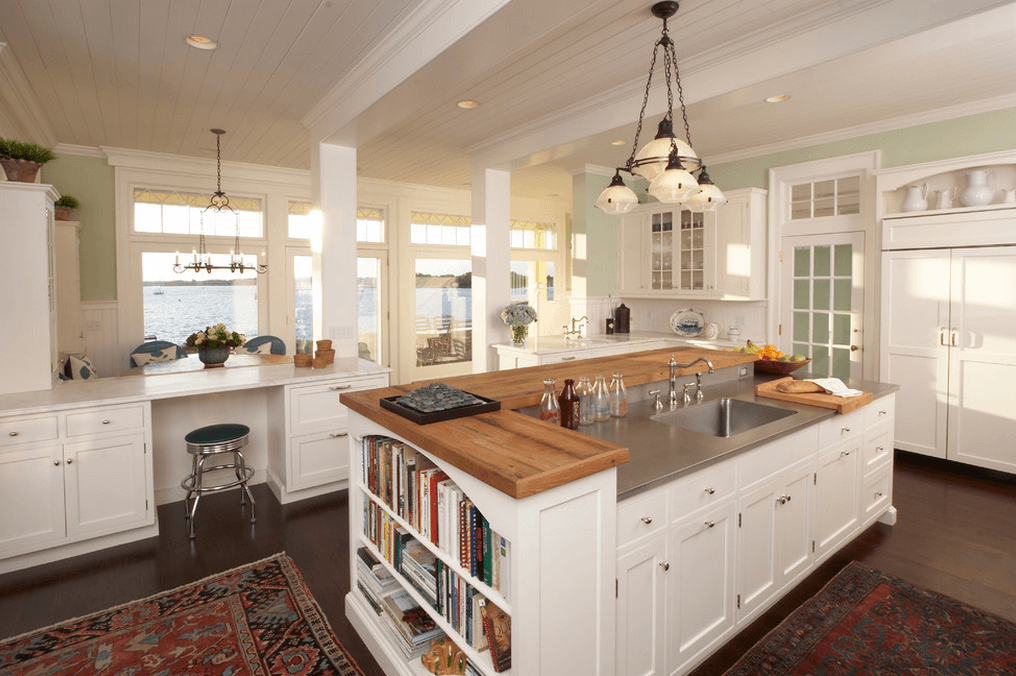 traditional-white-wood-and-stainless-island