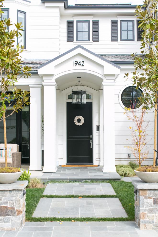 transitional-front-door-christmas-wreath