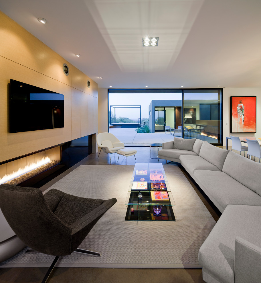 21 fresh modern living room designs for Tv family room designs